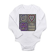 Perfect World: Dogs (ALT) - Long Sleeve Infant Bod