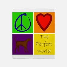 Perfect World: Yellow Lab Throw Blanket