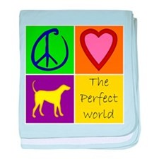 Perfect World: Yellow Lab - baby blanket