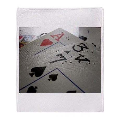 Braille Playing Cards Throw Blanket