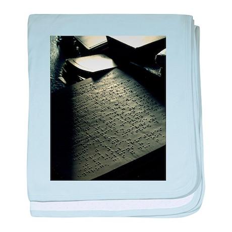 Sunlit Braille baby blanket
