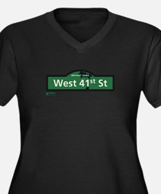 West 41st Street in NY Women's Plus Size V-Neck Da