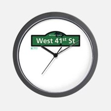 West 41st Street in NY Wall Clock