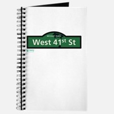 West 41st Street in NY Journal