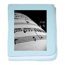 Sheet Music baby blanket