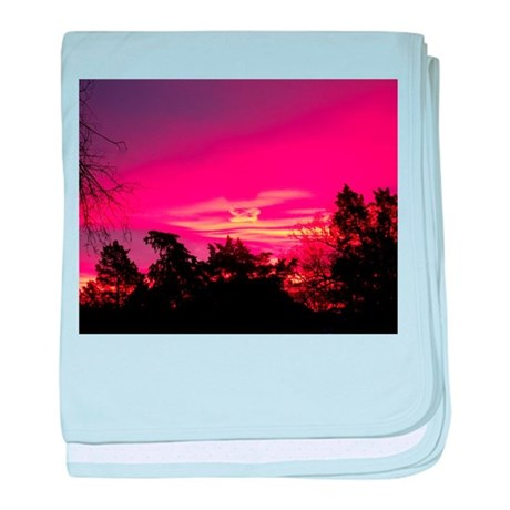 Pink Sunrise baby blanket