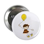 "Cute Balloon Girl 2.25"" Button (10 pack)"