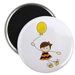 Cute Little Balloon Girl Magnet
