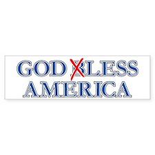 Godless America, Atheist Bumper Bumper Sticker