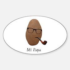 Mi Papa Sticker (Oval)