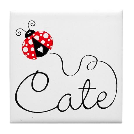 Ladybug Cate Tile Coaster