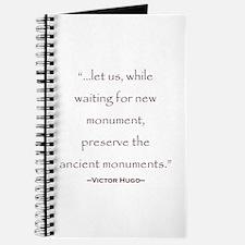 Victor Hugo Preservation Quote Journal