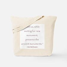 Victor Hugo Preservation Quote Tote Bag