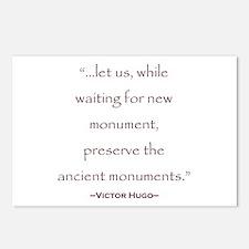 Victor Hugo Preservation Quote Postcards (Package