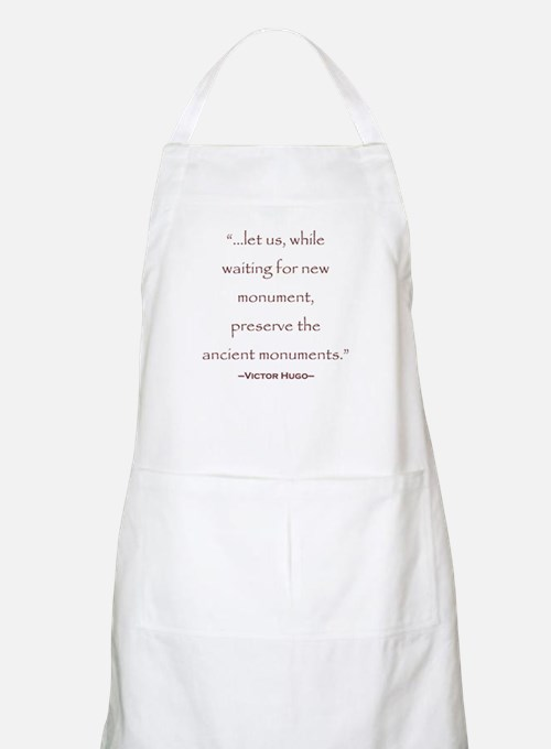 Victor Hugo Preservation Quote BBQ Apron