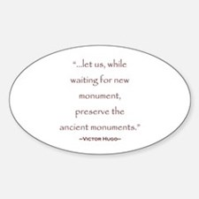 Victor Hugo Preservation Quote Oval Decal