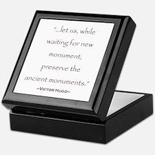 Victor Hugo Preservation Quote Keepsake Box