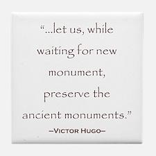 Victor Hugo Preservation Quote Tile Coaster
