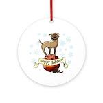 Tripawds Hoppy Holidays Ornament (Round)