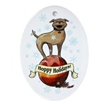 Hoppy Holidays Ornament (Oval)