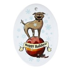 Hoppy Holidays Ornament (Oval)