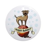 Tripawds Hoppy Holidays Ornament (Round)