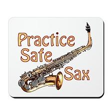 Practice Safe Sax Mousepad