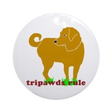 Golden Tripawds Rule Ornament (Round)