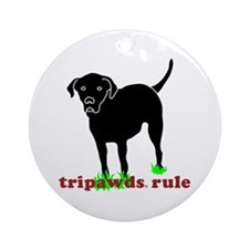 Tripawds Rule Rear Leg Lab Ornament (Round)