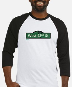 West 42nd Street in NY Baseball Jersey