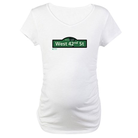 West 42nd Street in NY Maternity T-Shirt