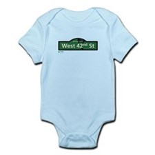West 42nd Street in NY Infant Bodysuit