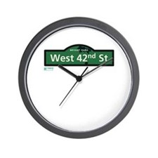 West 42nd Street in NY Wall Clock