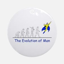 The Evolution of Man Ornament (Round)