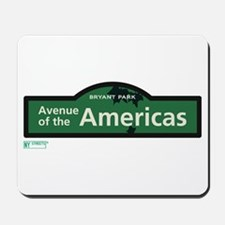 Avenue of the Americas in NY Mousepad