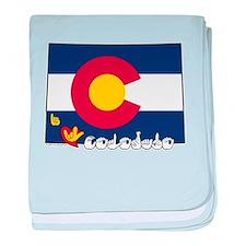 ILY Colorado baby blanket