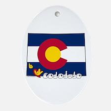 ILY Colorado Ornament (Oval)