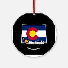 ILY Colorado Ornament (Round)