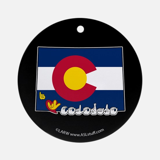 ILY Colorado Ornament (Round)