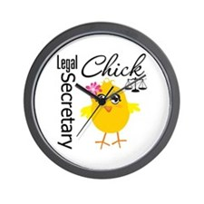 Legal Secretary Chick Wall Clock