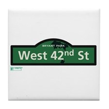 West 42nd Street in NY Tile Coaster