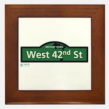 West 42nd Street in NY Framed Tile