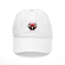 Deer skull in flames Baseball Cap