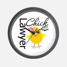 Lawyer Chick Wall Clock