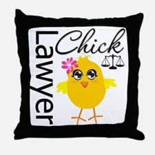 Lawyer Chick Throw Pillow