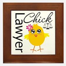 Lawyer Chick Framed Tile