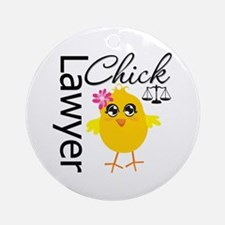 Lawyer Chick Ornament (Round)