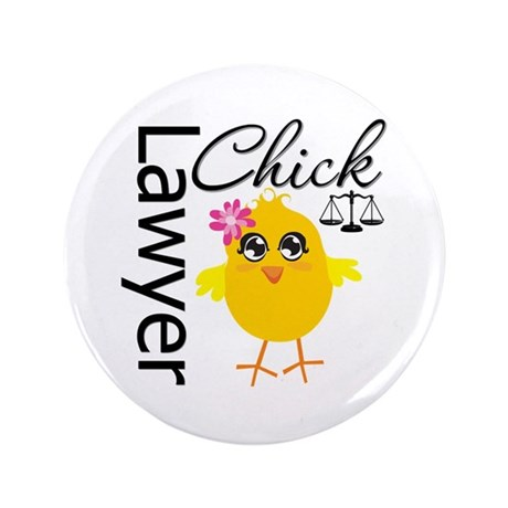 """Lawyer Chick 3.5"""" Button"""
