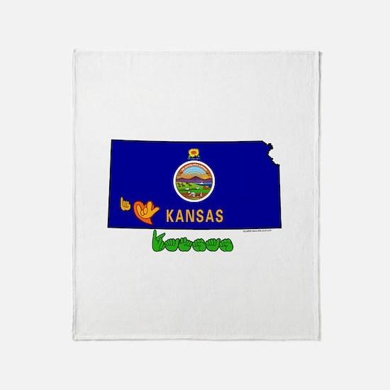 ILY Kansas Throw Blanket