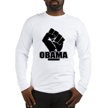 Obama Fist Impact! Long Sleeve T-Shirt
